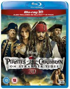 Pirates of the Caribbean: On Stranger Tides (Blu-ray 3D + Blu-ray) [Region Free] £4 @ Amazon  (free delivery £10 spend/prime/Amazon locker)