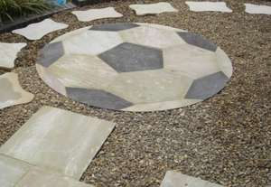 1.8m dia indian Sandstone Patio Circle Football Feature £60 FREE DELIVERY @ Clearance Paving