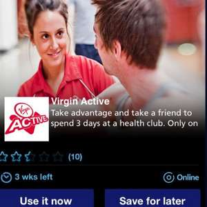 FREE virgin active 3 day health pass (gym swim etc) via O2 priority moments app