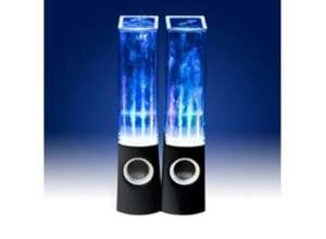 Dancing Water LED speakers in Black or White only £18.99 + £4.99 delivery at HushHush.com