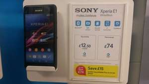 Sony Xperia E1 pay as you go @ Tesco Mobile