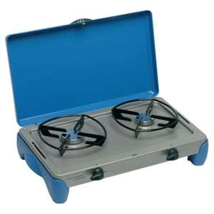 CAMPINGAZ  Camping Kitchen 2 burner stove  WAS £40.00 now £18.00 with code save10. blacks. free delivery to store.
