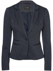 Navy Stripe Ponte Blazer Was £18.00 Now £10.00 at Asda.com with Free Click & Collect from Store.