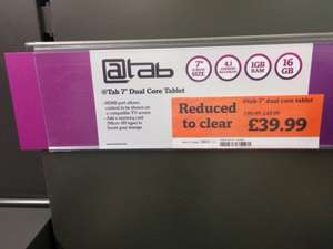"@Tab 7"" Dual Core Android Tablet - £39.99 @ Sainsburys"