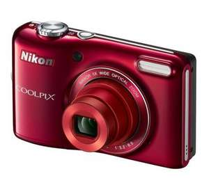 Nikon Coolpix L28 Digital Compact Camera - Red (20.1MP, 5xZoom) 3.0 inch LCD £34.97 @ Currys