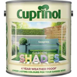 Cuprinol garden shades 2.5Ltr only £15 @ Wilkinsons