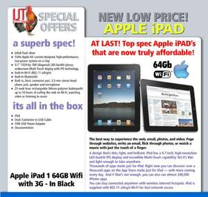 Apple iPad 1 64GB Wifi 3G - Black £159.95 + £6.99(delivery) ( Refurbished / Grade A2 | Warranty: 3 Months) = £166.94 @ IJT