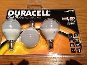 Multipacks Duracell LED Bulbs B22 baynet and E14 screw fittings £9.99 @ BM Store