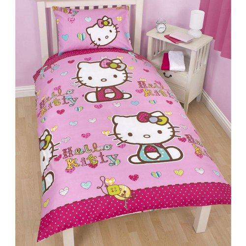 ** Hello Kitty Folk Duvet Cover Set Single now £3.50 @ Tesco Direct **