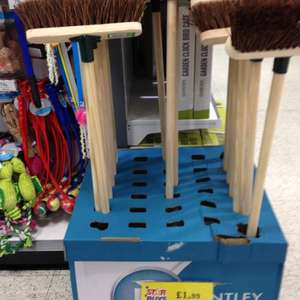 bently 10inch soft or stiff sweeping brush £1.99 @ Homebargains