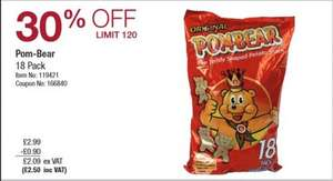 Pom-Bear Orginal 18 Pack £2.50 (includes VAT) @ Costco