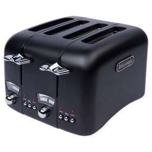 DeLonghi Argento Black 4-slice Wide Slot Toaster for £27.99 at Sainsurys