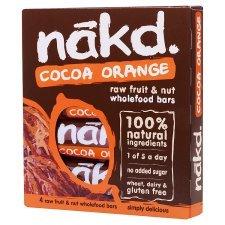 Nakd Cocoa Orange 4 pack for £1.40 in Tesco Express