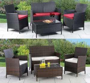 4-Piece All-Weather Rattan-Effect Garden Set for £179.99 (was £499) @ 24Studio