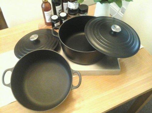 Le Creuset Cast Iron 22cm Round Bistro Casserole, Black £67.50 @ Captain Cooks