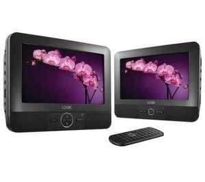 Logik L7TWIN11 Twin Screen Portable DVD player £39.97 at Currys