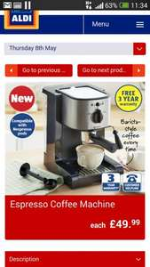 Espresso coffee machine, £49.99 @ Aldi