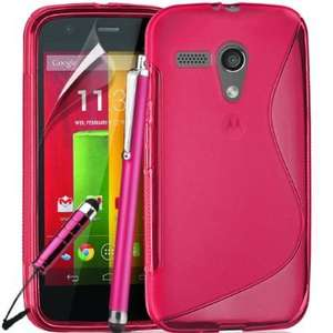 Motorola Moto G Case (pink) Cover included Screen Protector and Polishing Cloth & 2 Stylus Pens 99p @ amazon Sold by MGT Group
