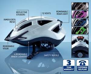 Cycling Helmet c/w flashing LED light £9.99 @ Aldi