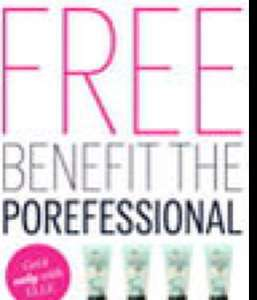 FREE Benefit The Porefessional @ Elle