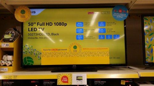 ISIS 50 Inch 1080p LED TV  £349 - Tesco