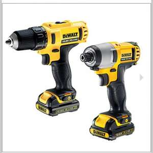 DeWalt DCK211S2 10.8V 1.5Ah Li-Ion Twin Pack Drill & Impact Driver £129.99 @ Screwfix
