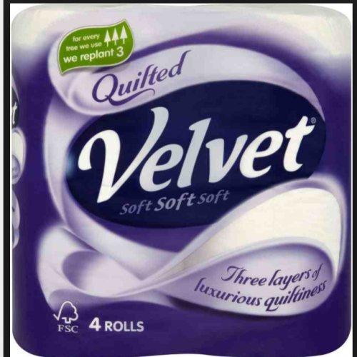 Quilted velvet toilet paper 40 rolls £10.78 @ Costco instore