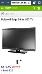 Polaroid 24 inch led with freeview asda 119