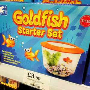 Goldfish starter set 3.99 @ home bargains