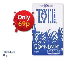 Tate & Lyle Granulated Sugar (1kg) 69p @ Nisa