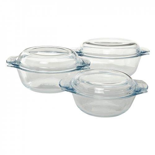 Pyrex Casserole Set Glass 3 Piece £10 at Asda Direct