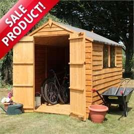 8 x 6 Waltons Overlap Apex Wooden Shed deal is back FREE DELIVERY £199