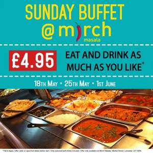 £4.95 Sunday Buffet @ Mirch Masala, Leicester