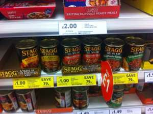 Stagg chilli con carne all types £1.00 @ Tesco