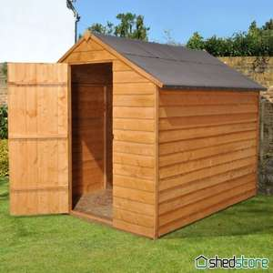 8' x 6' Shed-Plus SUPER SAVER Overlap Shed (2.37x1.91m) £183.95 @ Shedstore