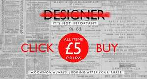 Cheap clothing items, shoes, handbags and more.  £5.00 each @ Woownow