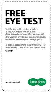 561de48b1695 Free Eye Test Voucher @ Specsavers - hotukdeals
