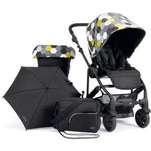 Better than half price!! Mamas and Papas Pixo Hexagon Pushchair Package - Black £199.99 down fron £449.99 at Argos
