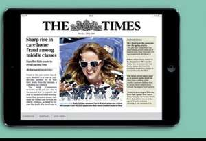 iPad mini 16gb free with £7 a week digital newspaper The Times 18mth contract (Term £546)