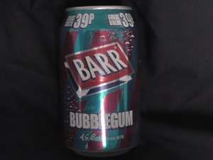 Barrs Bubblegum flavoured fizzy pop 4 for £1 @ Poundstretcher