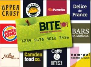 Free Bite Card - Get 20% off food & drink at Railway Station eateries