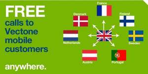 FREE CALLS TO VECTONE MOBILE VUSTOMER ANYWHERE IN THE WORLD