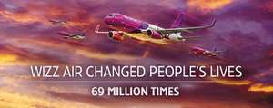Wizzair Buy 2 Tickets For The Price Of One TODAY ONLY £19.99