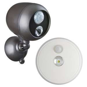 Mr Beams MB360 Spotlight and MB980 Ceiling Light LED Battery Powered Garden Building Pack £35 @ Amazon