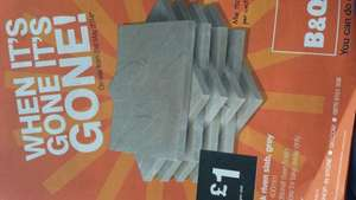 Peak riven slab grey £1 @ B&Q (From 31st May)