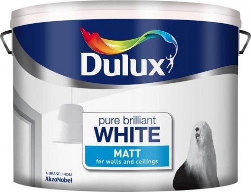 Dulux 10ltr Vinyl Matt/silk Brilliant White Costco £19.18