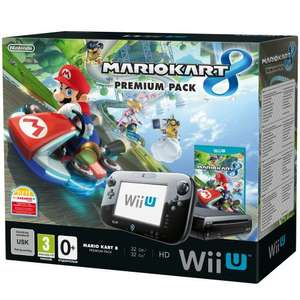 Nintendo Wii U Mario Kart 8 Premium Pack - 32gb Console Bundle with Mario Kart 8 (Register & get 1 of 10 FREE Games) use code TDX-LVY3 @ TESCO Direct -