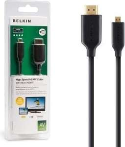 BELKIN 5M HIGH SPEED HDMI CABLE TO MICRO HDMI £1 @ Poundland