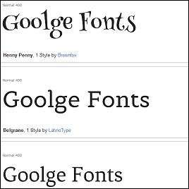 Hundreds of Free Fonts For Use With your website or Google