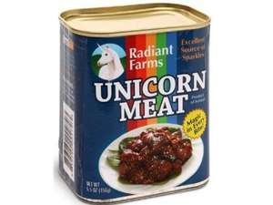 Thinkgeek Canned Unicorn Meat £10.30 @ Amazon FREE UK Delivery sold by The Gift Oasis LTD..